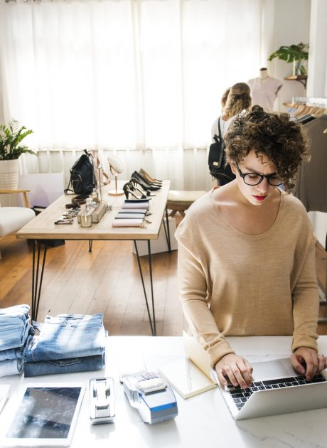 female-business-owner-is-using-laptop